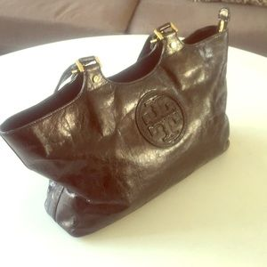 Tory Burch leather tote .